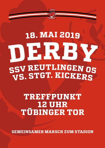 Derby gegen Kickers – 18.5. Treffpunkt 12 Uhr am Tübinger Tor
