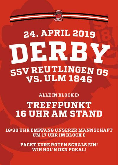 Derby gegen Ulm – 24.4. Treffpunkt 16 Uhr am Stadion