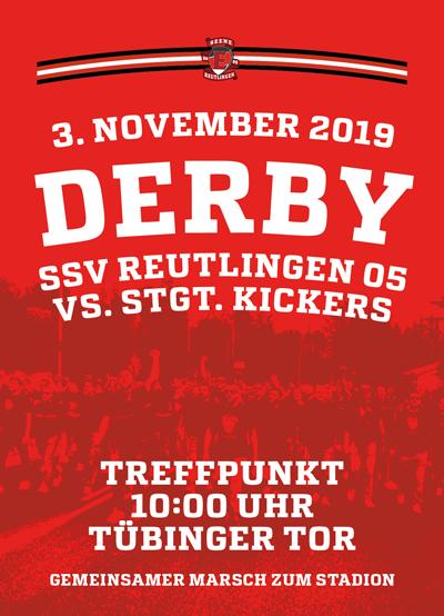 Derby gegen Kickers – 3.11. Treffpunkt 10 Uhr am Tübinger Tor